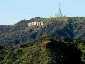 Hollywood Sign Save the Peak Сохраним Знак Голливуда