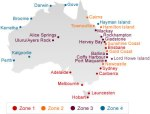 Australia Qantas map tours