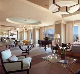 The Presidential Suite at Four Seasons Hotel Los Angeles at Beverly Hills
